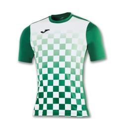 Divisa Joma flag verde bianco kit calcio sportivo t-shirt manica corta collo tondo