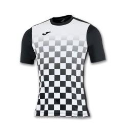 divisa Joma flag colore nera bianca kit calcio sportivo t-shirt manica corta collo tondo