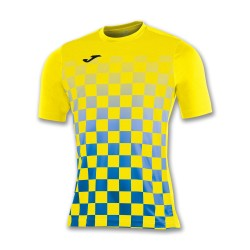 divisa Joma flag colore gialla azzurra kit calcio sportivo t-shirt manica corta collo tondo