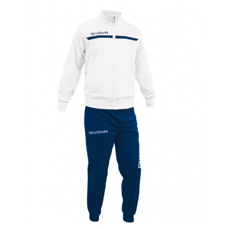 Tuta uomo Givova mod Campo blu bianco royal sportiva allenamento fitness