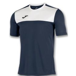 Divisa Joma Winner nera bianca kit calcio sportivo t-shirt manica corta collo rotondo