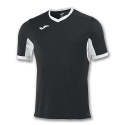 Divisa Joma Champion IV nera bianca kit calcio sportivo t-shirt manica corta collo a V
