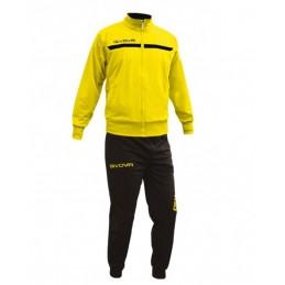 La tuta ONE FULL ZIP GIVOVA è composta da pantalone e giacca aperta con zip centrale